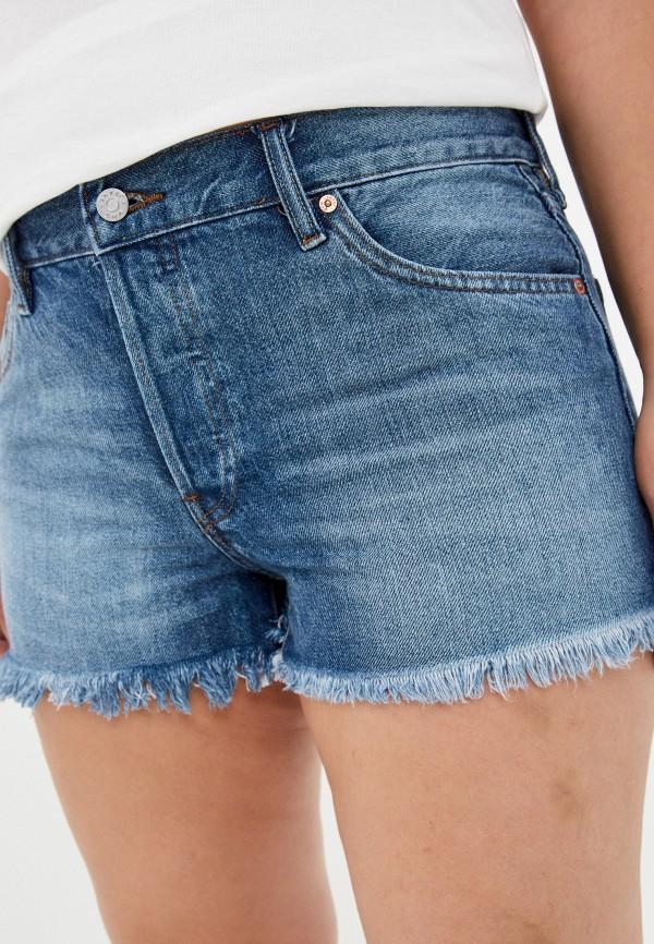 женские джинсовые шорты mango, синие