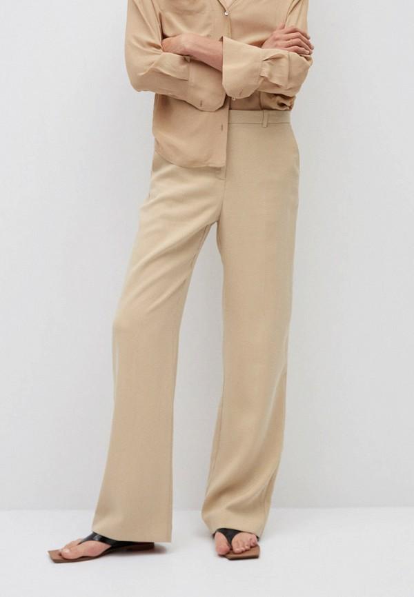 женские классические брюки mango, бежевые