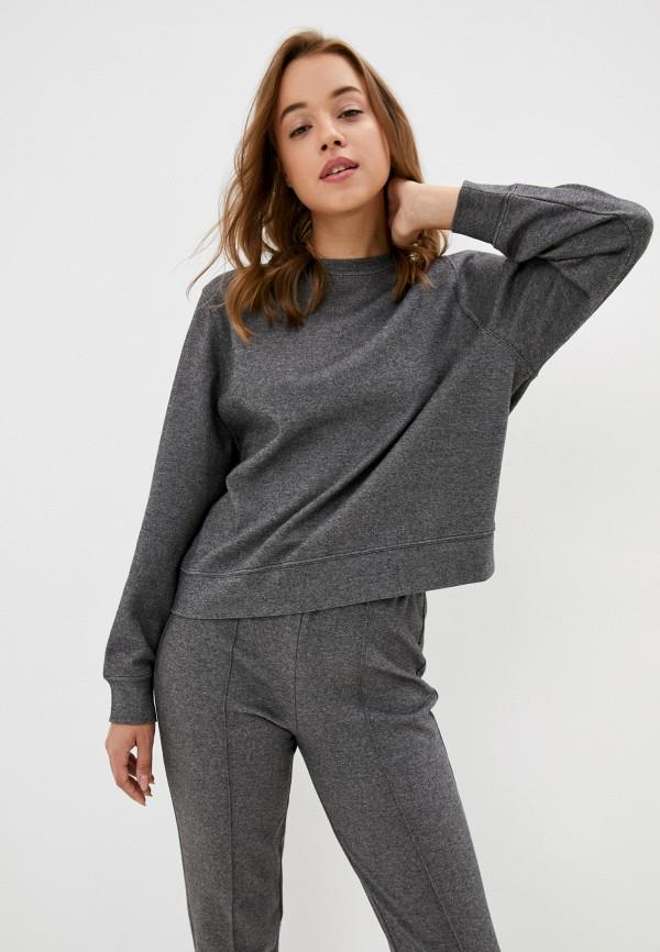 женский свитшот mango, серый
