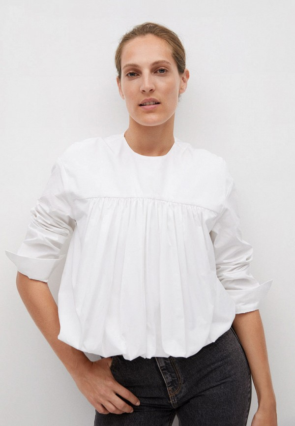 женская блузка mango, белая