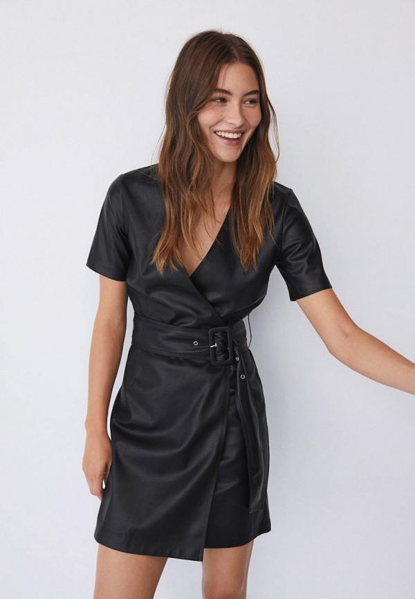 женское платье mango, черное