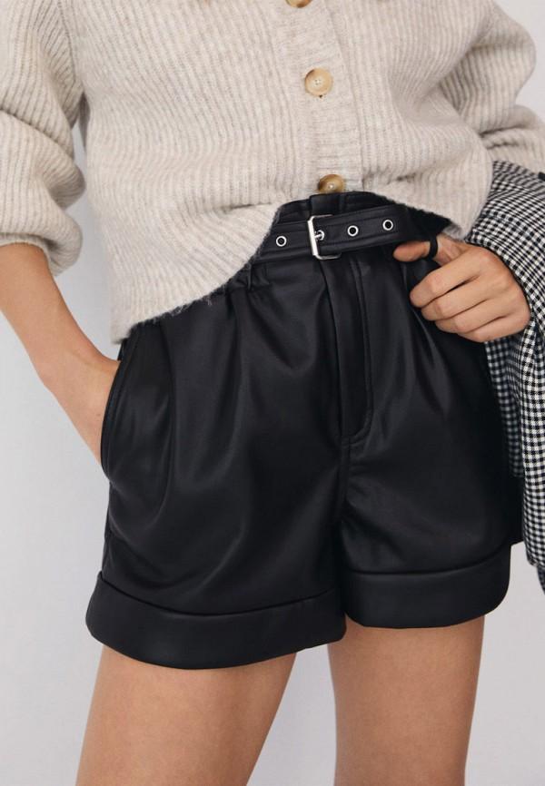 женские повседневные шорты mango, черные