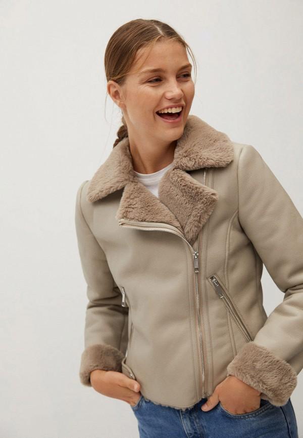 женская куртка mango, серая