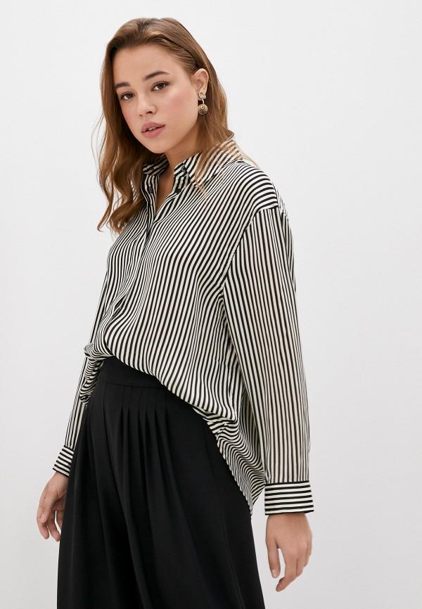 женская рубашка с длинным рукавом mango, серая