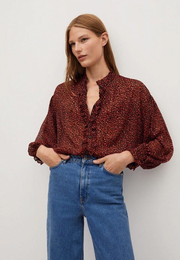 женская блузка mango, красная
