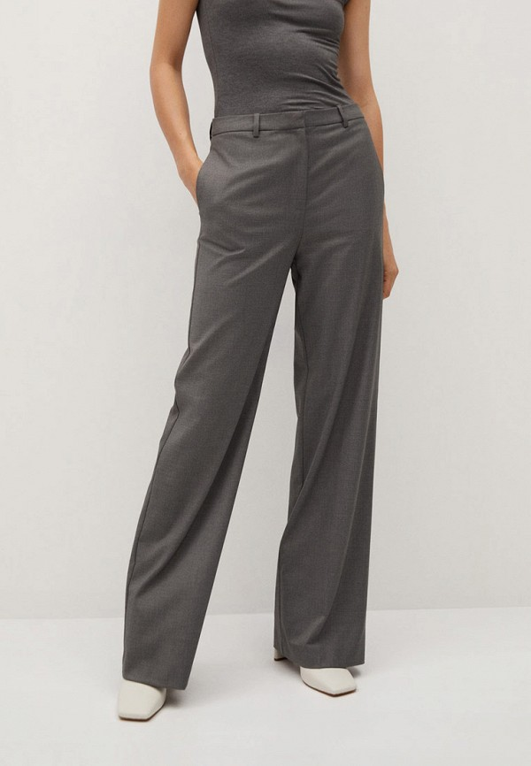 женские повседневные брюки mango, серые