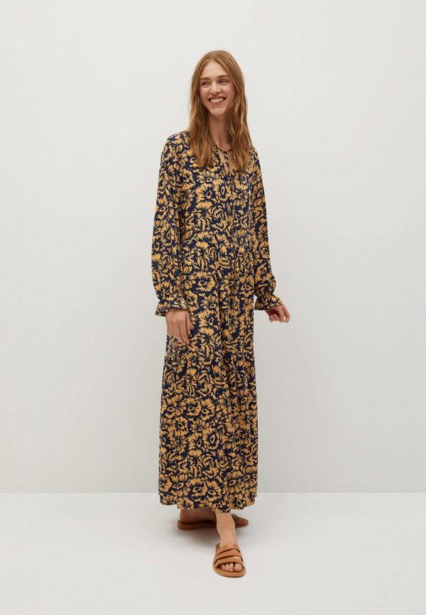 женское платье mango, разноцветное