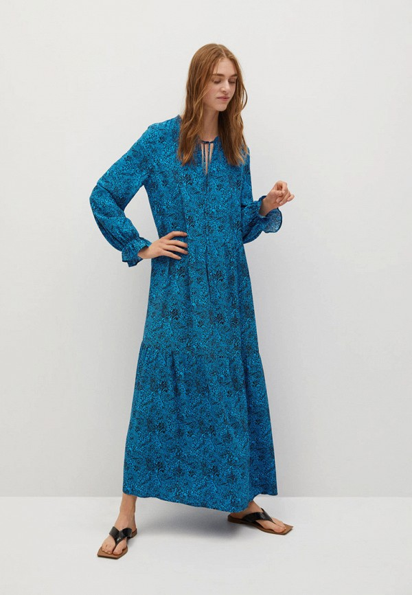 женское повседневные платье mango, синее