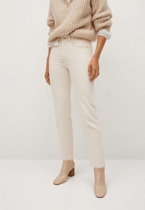 женские повседневные брюки mango, белые