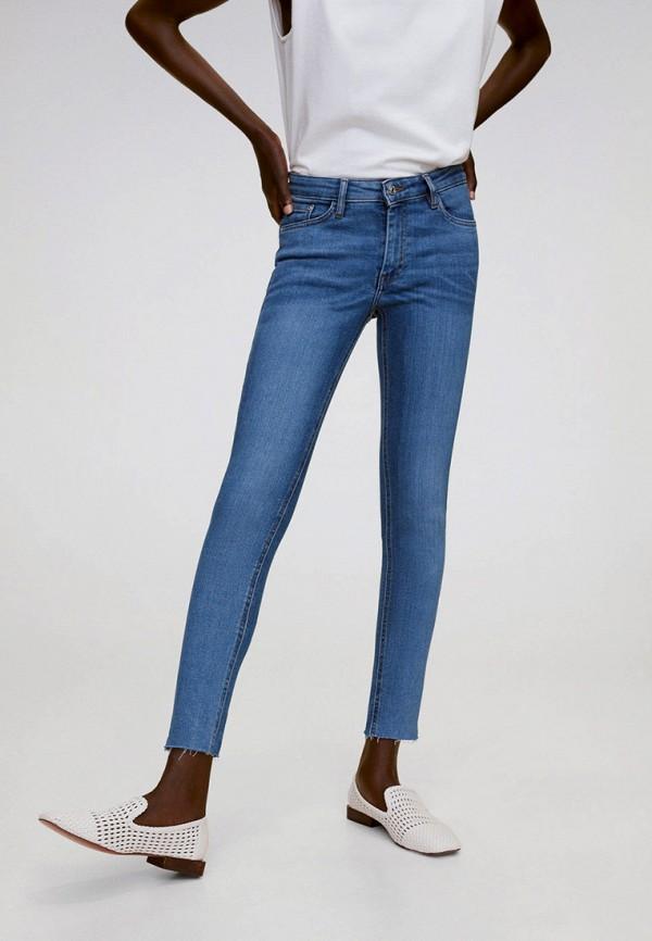 женские джинсы скинни mango, синие