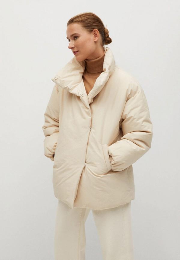 женская утепленные куртка mango, бежевая