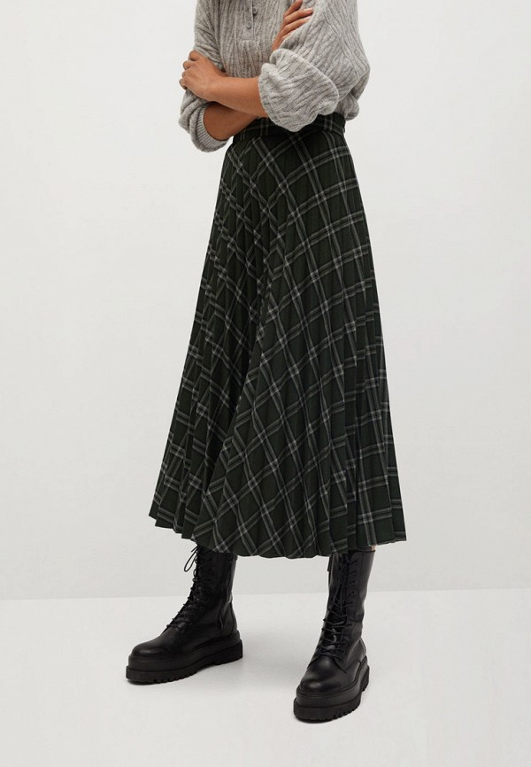 женская плиссированные юбка mango, разноцветная