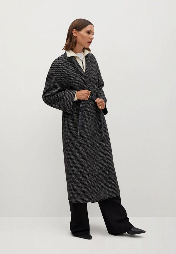 женское пальто mango, синее