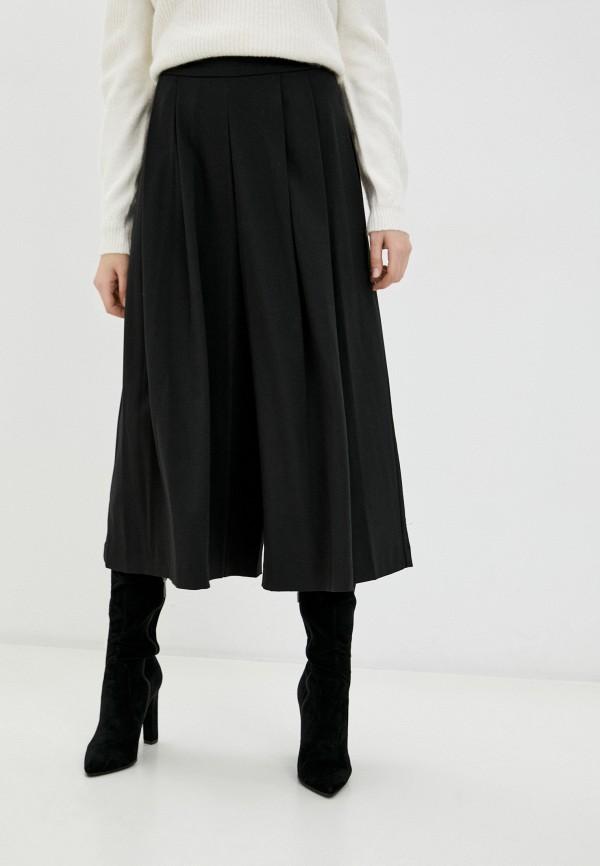 женские брюки кюлоты mango, черные