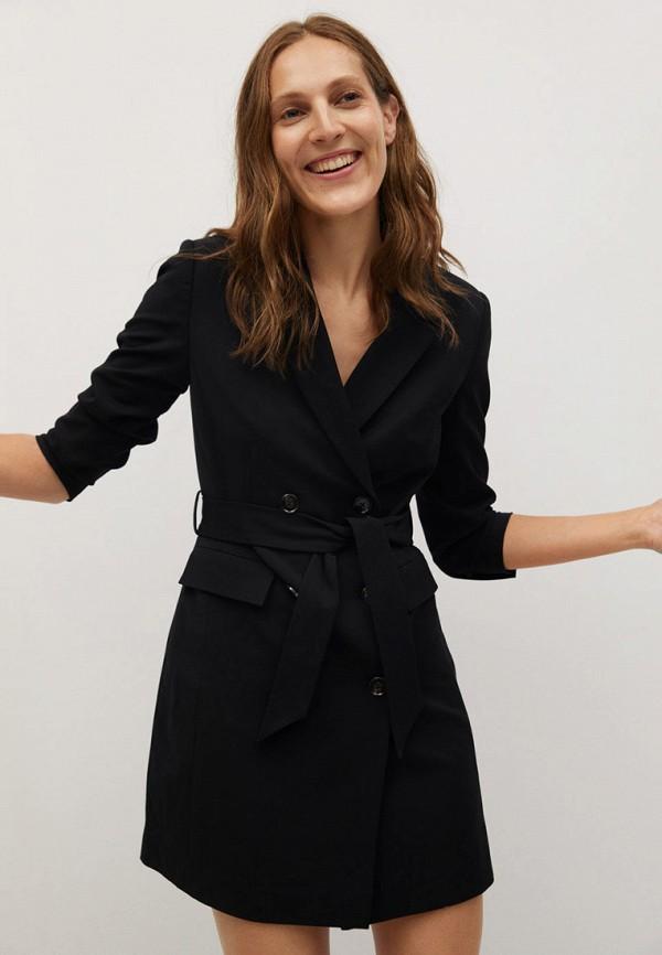 женское платье-пиджаки mango, черное
