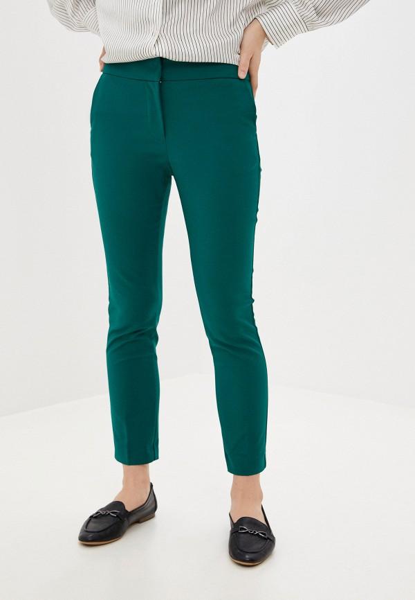 женские классические брюки mango, зеленые