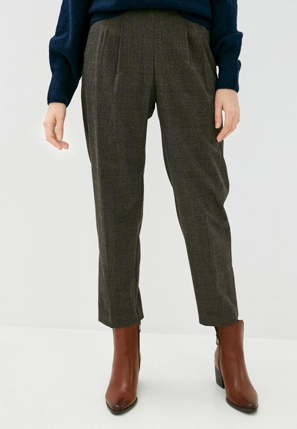 женские классические брюки mango, коричневые