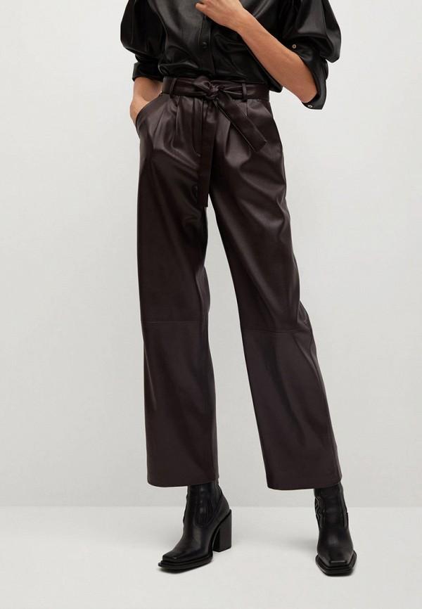 женские брюки mango, коричневые