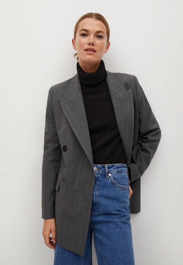 женский пиджак mango, серый