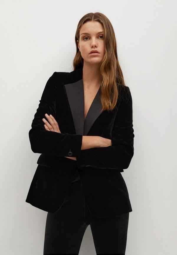 женский пиджак mango, черный