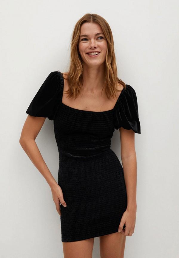 женское платье-футляр mango, черное