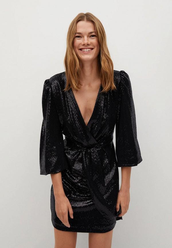 женское вечерние платье mango, черное