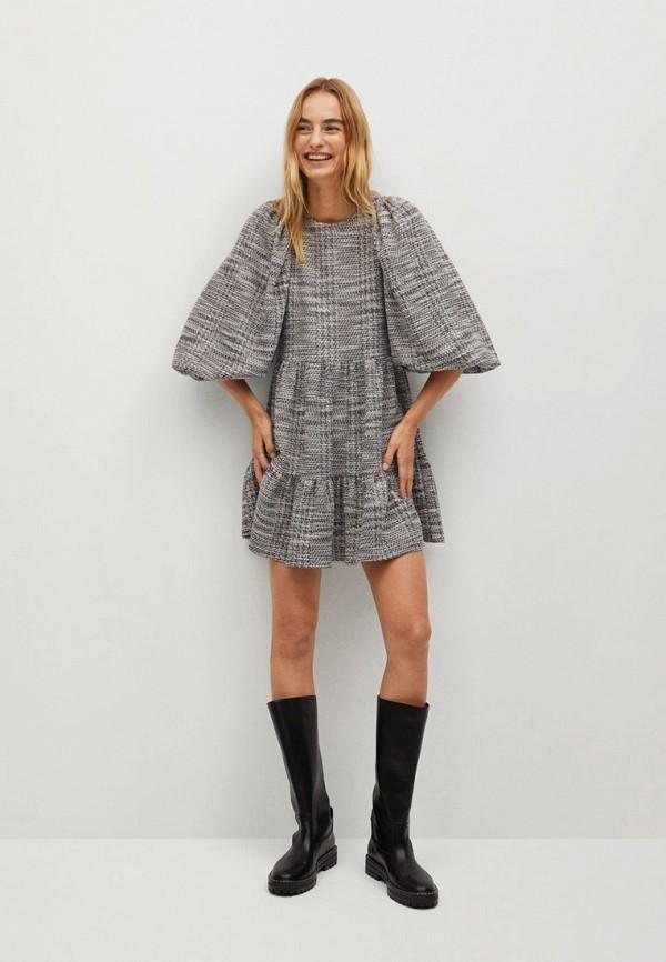 женское повседневные платье mango, серое