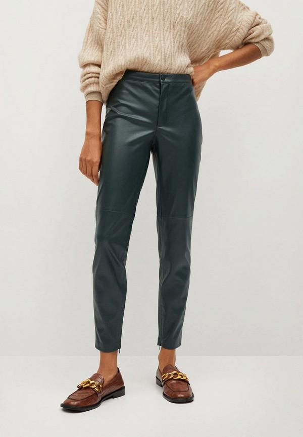 женские брюки mango, зеленые