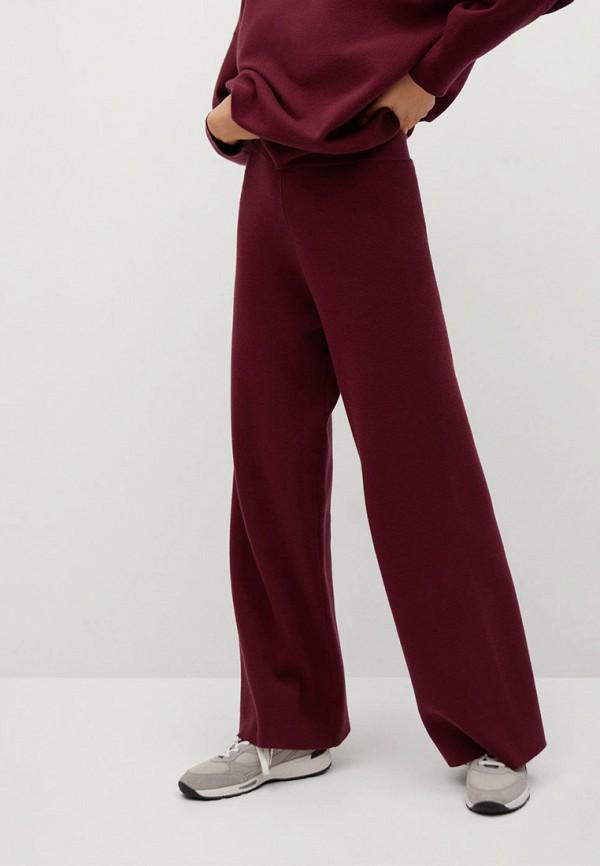 женские брюки mango, бордовые