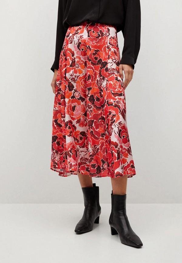 женская юбка-трапеции mango, розовая