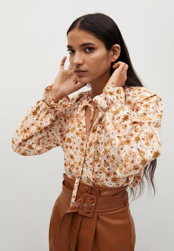 женская блузка mango, бежевая
