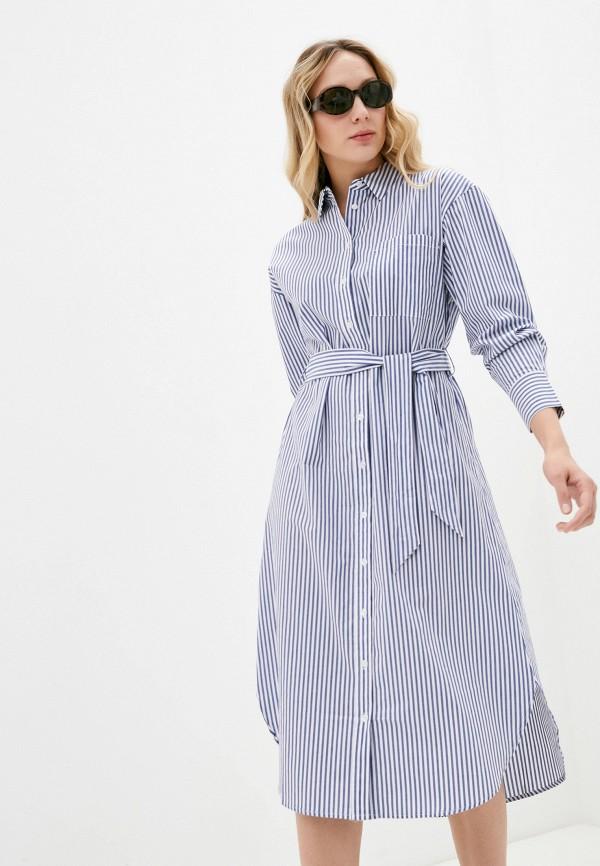 женское платье mango, голубое