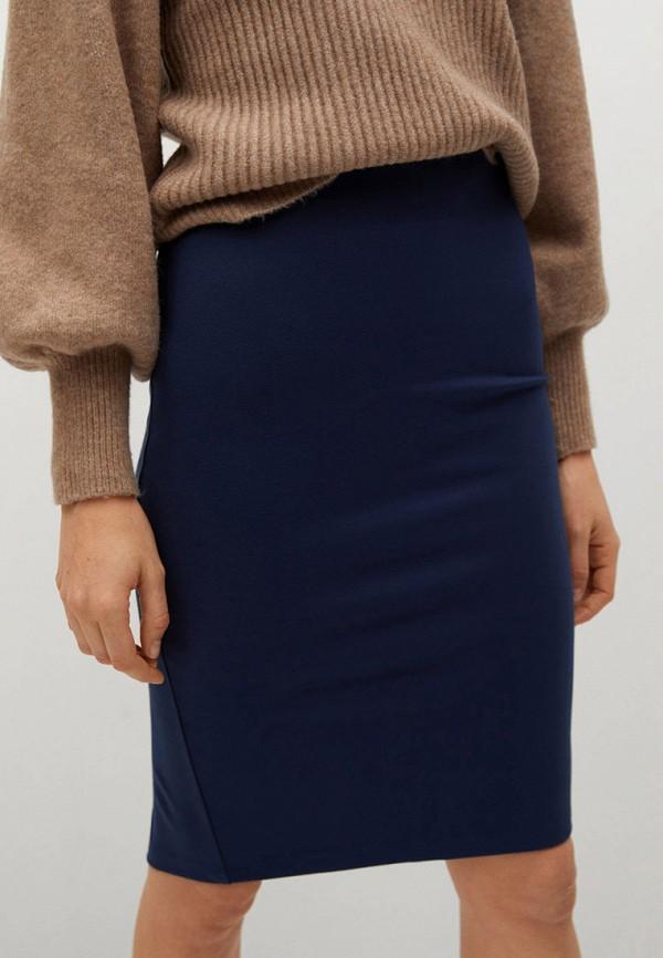 женская зауженные юбка mango, синяя