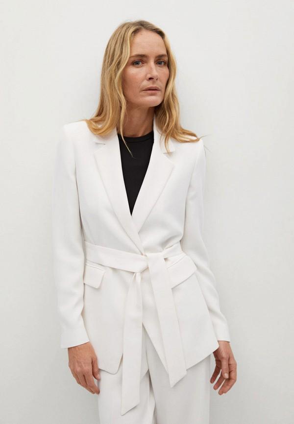 женский пиджак mango, белый