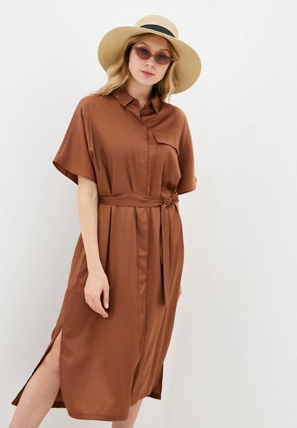 женское платье mango, коричневое