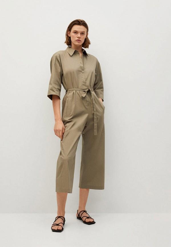 женский комбинезон с брюками mango, хаки