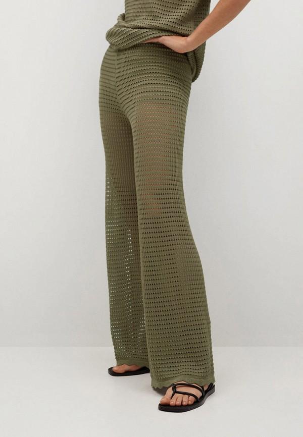 женские повседневные брюки mango, хаки