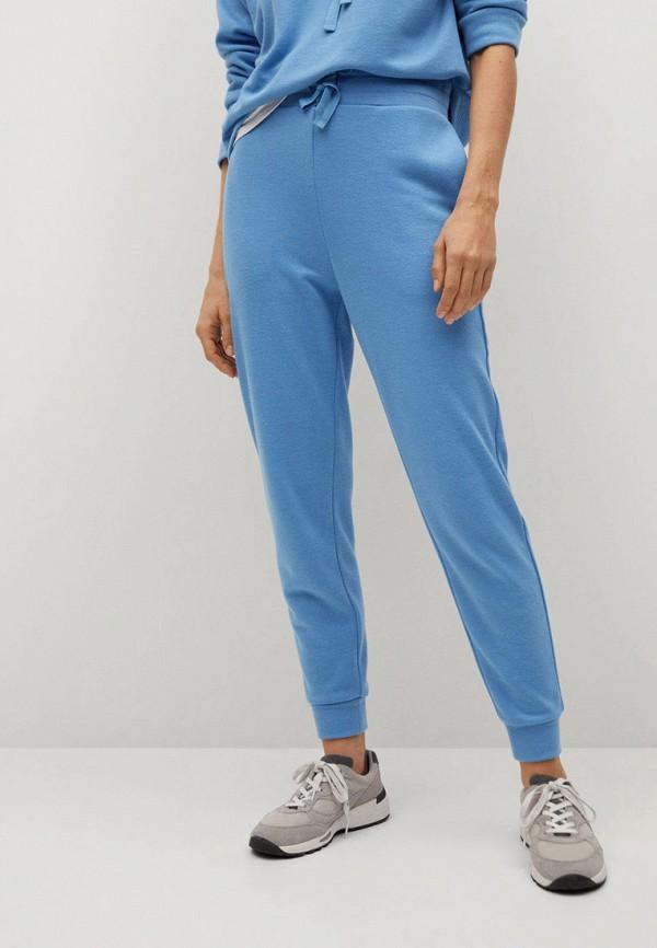 женские брюки джоггеры mango, голубые