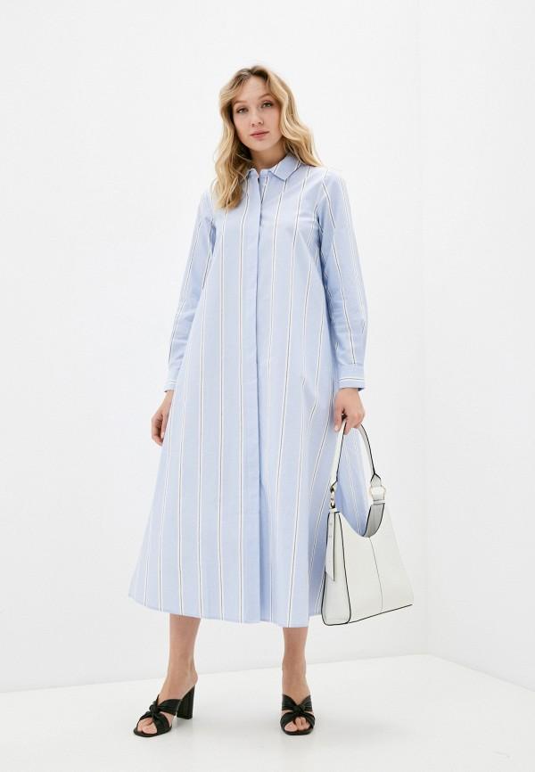женское платье mango, синее