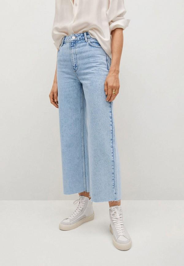 женские джинсы клеш mango, голубые