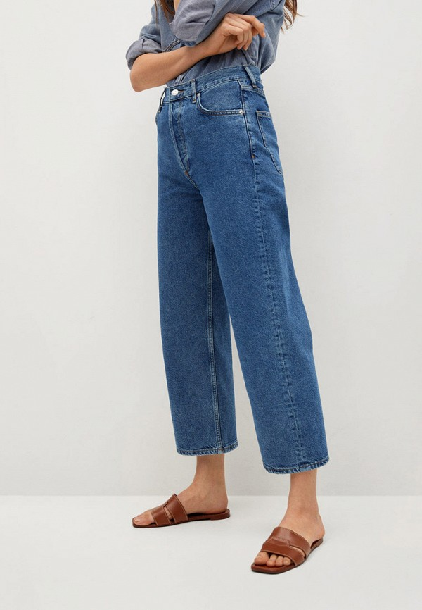 женские джинсы клеш mango, синие
