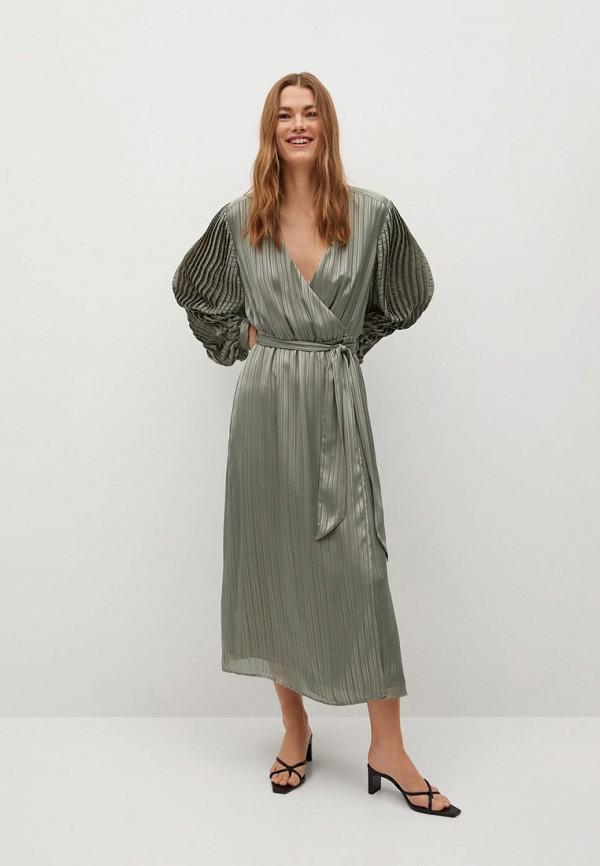 женское платье mango, зеленое