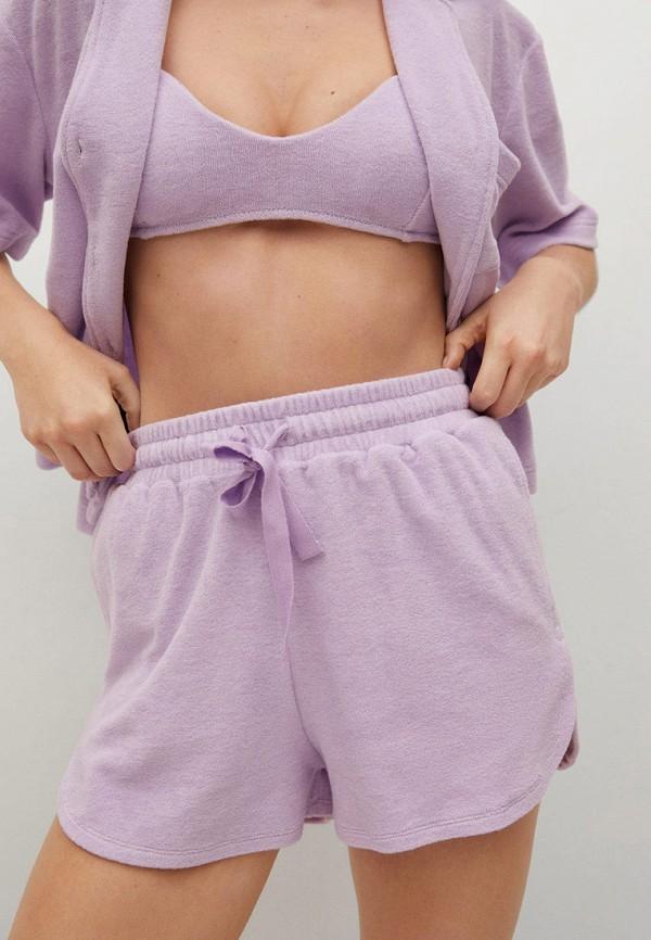 женская пижама mango, фиолетовая