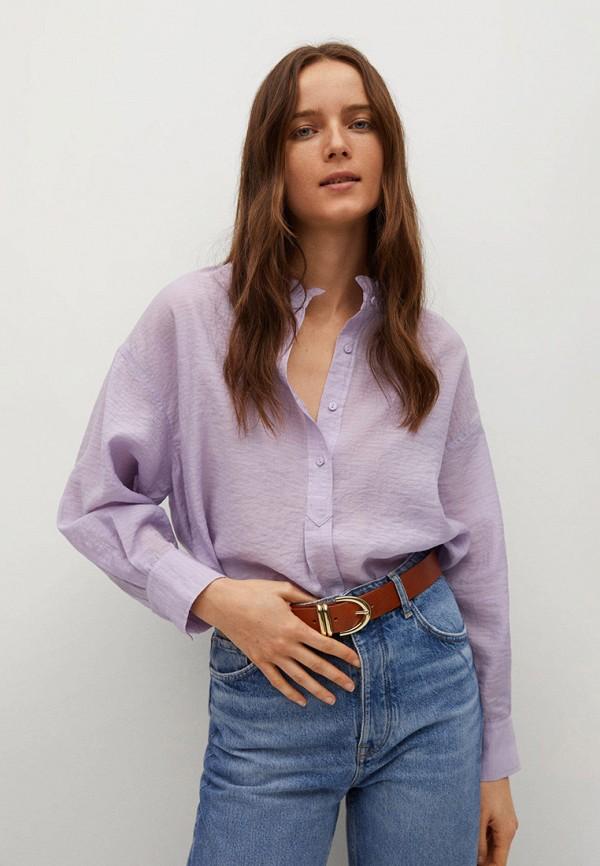 женская блузка mango, фиолетовая