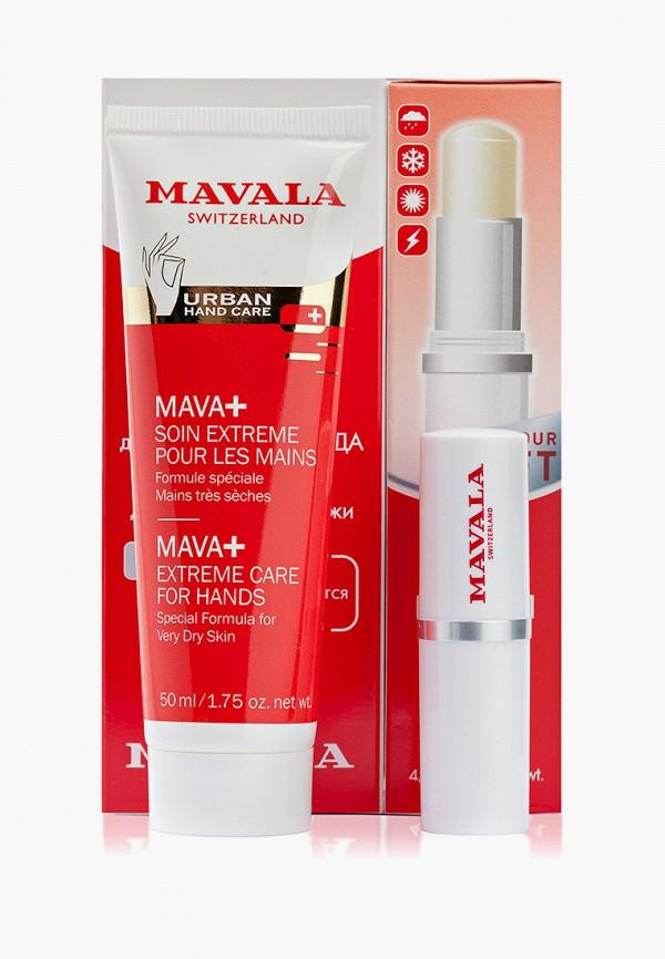 Набор для ухода за руками Mavala крем рук Mava+ и бальзам губ Lip balm, 150 гр.. Цвет: прозрачный