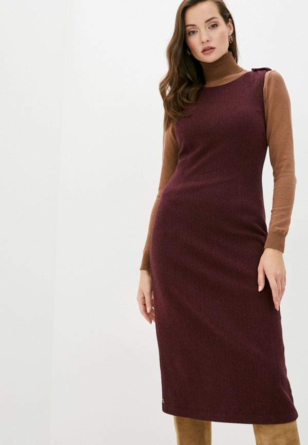 женское платье-футляр manila grace, бордовое