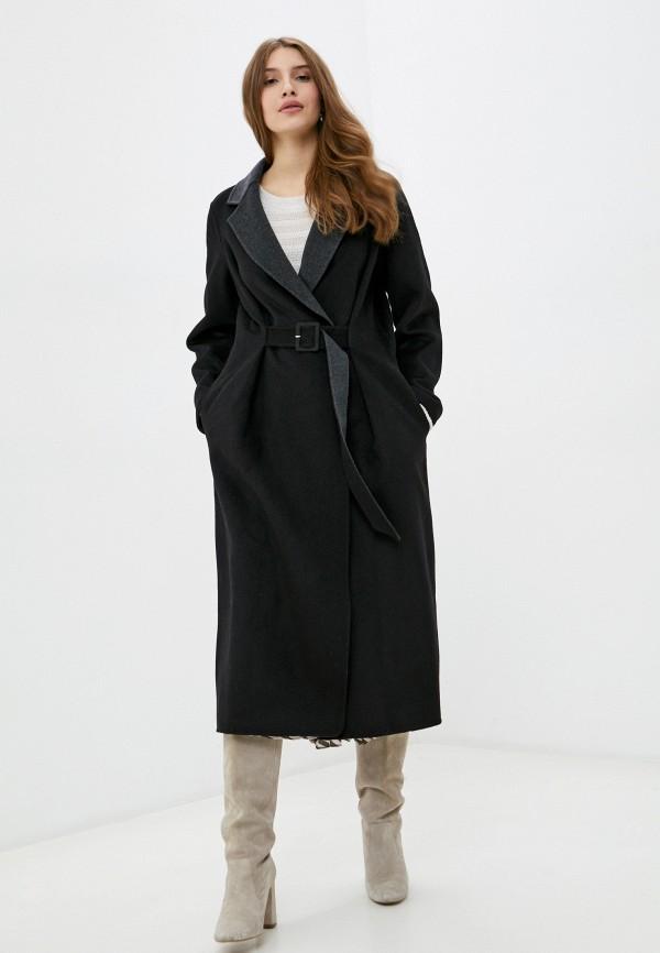 женское пальто manila grace, черное
