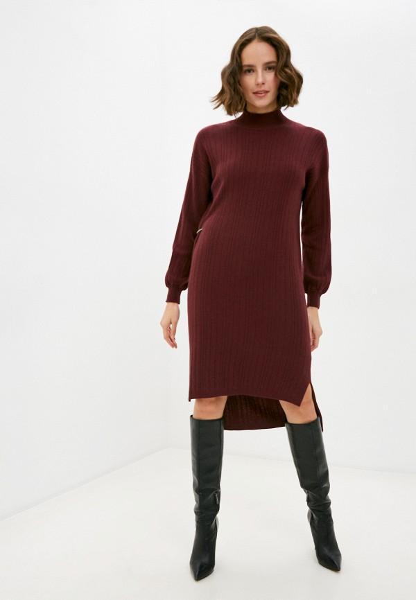 женское платье manila grace, бордовое