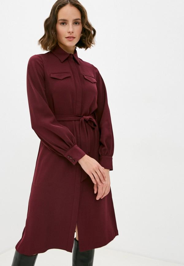 женское повседневные платье manila grace, бордовое