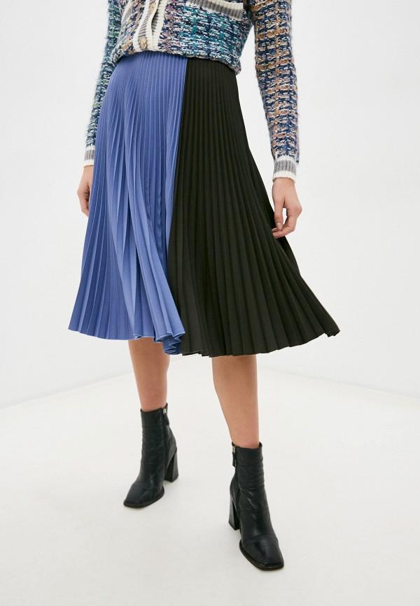 женская юбка manila grace, голубая